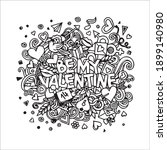 valentines day coloring page... | Shutterstock .eps vector #1899140980