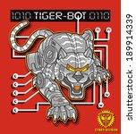 tiger robot | Shutterstock .eps vector #189914339
