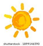 orange sun symbol painted.... | Shutterstock .eps vector #1899146590