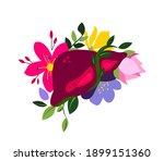 beautiful flowered liver hepar... | Shutterstock .eps vector #1899151360