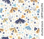 floral seamless pattern with... | Shutterstock .eps vector #1899166396