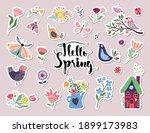 hello spring stickers... | Shutterstock .eps vector #1899173983