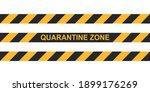 danger tape quarantine zone.... | Shutterstock .eps vector #1899176269