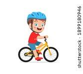 happy cute little kid boy...   Shutterstock .eps vector #1899180946
