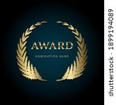 award gold emblem template with ... | Shutterstock .eps vector #1899194089
