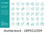 Set Of Thin Line Icon Set With...