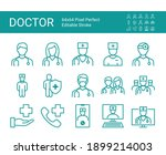 set of line icons of doctor.... | Shutterstock .eps vector #1899214003