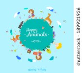 Vector Happy Birthday Card In ...