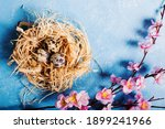Easter Bucolic Background With...