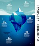 Iceberg infographic  - stock vector