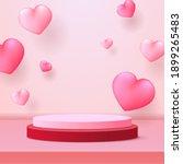 happy valentine's day podium...   Shutterstock .eps vector #1899265483