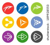 arrow sign icon set. abstract...