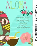 hawaiian luau party | Shutterstock .eps vector #189929480
