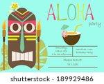 hawaiian luau party | Shutterstock .eps vector #189929486
