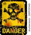 danger sign  warning  ... | Shutterstock .eps vector #189929540