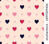 Vector Black Red Hearts Dots...