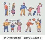 the couple is breaking up. a...   Shutterstock .eps vector #1899323056