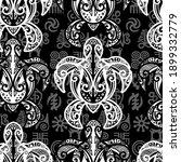 seamless pattern   sea turtle...   Shutterstock .eps vector #1899332779