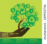go green concept. save world... | Shutterstock .eps vector #189933746