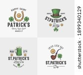 vintage style saint patricks... | Shutterstock .eps vector #1899340129