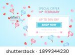 love and valentine's day... | Shutterstock .eps vector #1899344230