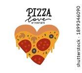 modern cartoon style pizza... | Shutterstock .eps vector #1899346090
