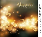 abstract background with bokeh... | Shutterstock .eps vector #189935120