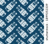 vaccine covid 19 vials seamless ... | Shutterstock .eps vector #1899352339