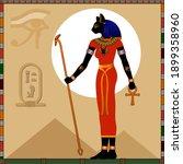 religion of ancient egypt. ... | Shutterstock .eps vector #1899358960