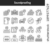 soundproofing color line icons... | Shutterstock .eps vector #1899377629