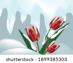 illustration of a bouquet of... | Shutterstock .eps vector #1899385303