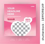 social media post template for... | Shutterstock .eps vector #1899398149