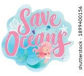 save oceans  lettering ...   Shutterstock .eps vector #1899400156