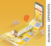realistic detailed 3d delivery... | Shutterstock .eps vector #1899404056