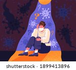 a person who is afraid of being ... | Shutterstock .eps vector #1899413896