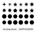 star burst sticker set. black... | Shutterstock . vector #1899418300
