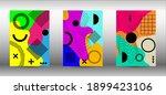 memphis background set covers.... | Shutterstock .eps vector #1899423106