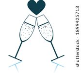 champagne glass with heart icon....   Shutterstock .eps vector #1899425713