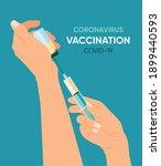 vacctination banner. doctor s...   Shutterstock .eps vector #1899440593