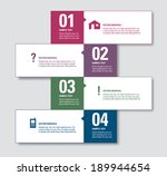 modern vector numbered banners. ... | Shutterstock .eps vector #189944654