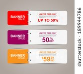 sale banners | Shutterstock .eps vector #189944786