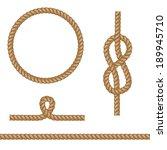 abstract rope elements. vector... | Shutterstock .eps vector #189945710