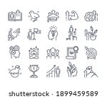 black and white vector icons...   Shutterstock .eps vector #1899459589