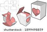 no glue cardboard gift box ...   Shutterstock .eps vector #1899498859