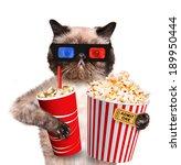 cat watching a movie | Shutterstock . vector #189950444