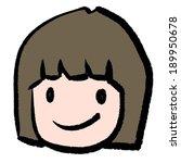 vector of girl | Shutterstock .eps vector #189950678