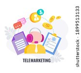 telemarketing icon. cold... | Shutterstock .eps vector #1899513133