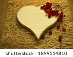 "A White Wooden ""heart""  A..."