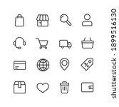 e commerce simple thin line... | Shutterstock .eps vector #1899516130