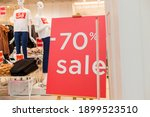 Sale Up To 70 Percent Red Sign. ...